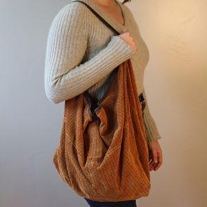 Tylie Malibu Suede Nomad Boho Sling Bag